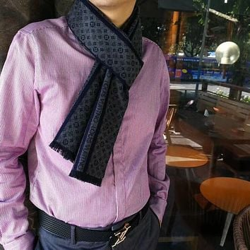 Louis Vuitton Men Fashion Casual Wool Knit Scarf