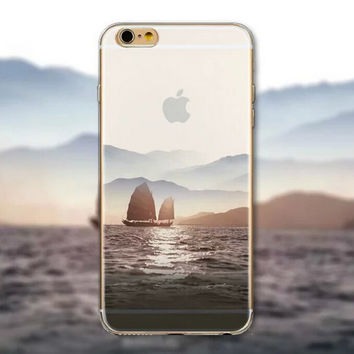 Sailing Tourism Scenery iPhone 5 5S iPhone 6 6S Plus creative case + Gift Box-125