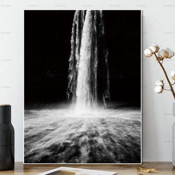 Wall art pictures canvas painting no frame decor poster art prints Waterfall on canvas Wall Picture decoration for living room