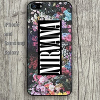 Cartoon flowers nirvana color iphone 6 6 plus iPhone 5 5S 5C case Samsung S3,S4,S5 case Ipod Silicone plastic Phone cover Waterproof
