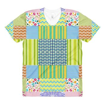"""Crazy Quilt"" Women's Crew Neck T-Shirt"