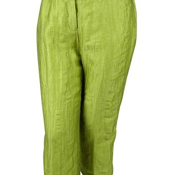 Jones New York Women's Linen Blend Pants (14WP, Green)