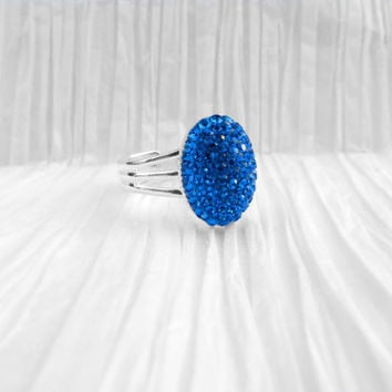 Swarovski Crystal Blue Ring, Pretty Blue Ring, Pretty Jewelry, Crystal Icing