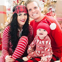 2pcs Family Christmas Pajamas Family Matching Clothes Outfits Long Sleeve Father Baby Mom Family Clothing Clothes Set