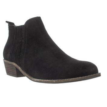 Steve Madden Tallie Chelsea Ankle Boots, Black Suede, 5.5 US