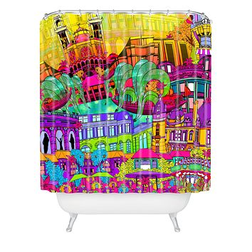 Aimee St Hill I Heart Paris Shower Curtain