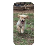 Puppy Love!!  Golden Retriever pup running from Zazzle.com