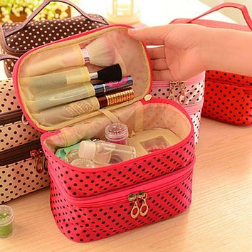 Travel Wash Kit Vanity Toiletry Necessaire Make Up Necessaries Makeup Cosmetic Bag Organizer For Women Beauty Case Handbag Pouch