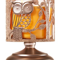 3-Wick Candle Sleeve Owl Pedestal
