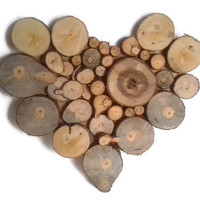 Wood Wall Art, Wood Slice Decor, Heart Decor, Rustic decor, Tree Slice Wall Art, Wedding gift, Reclaimed Wood, Wood Decor, Wood Art