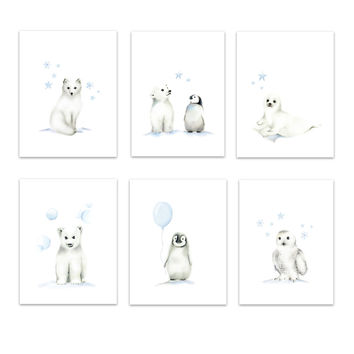 Arctic Friends Art Prints - Set of 6