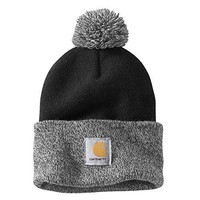 Carhartt Women's Lookout Acrylic Pom Pom Hat, Black, One Size