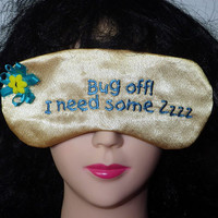 Embroidered Satin Eye Mask with an Attitude
