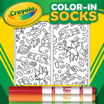 Color-In Socks  Santa In Space