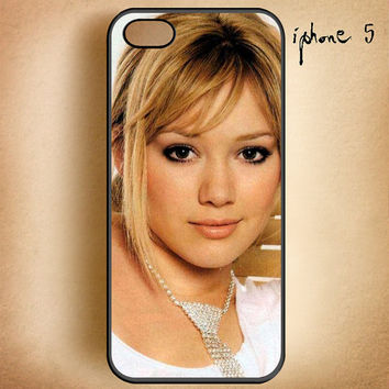 Hilary Duff-Design On Hard Plastic Cover Case, IPhone 4,4S or IPhone 5 Case, Samsung Galaxy S2,S3 or S4 Case