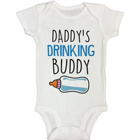 Daddy's Drinking Buddy -  Cute Baby Onesuit