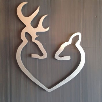 Deer to my Heart - Metal Wall Art - Hunting Sign - Metal Art - Wall Art - Metal Wall Decor