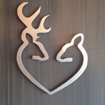 deer to my heart metal wall art from inspiremetals on etsy. Black Bedroom Furniture Sets. Home Design Ideas