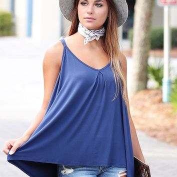Slouchy V-Neck Tank Top