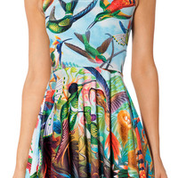 Bird Print A-Line Sundress