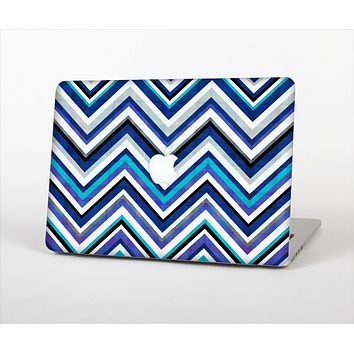 "The Vibrant Blue Sharp Chevron Skin Set for the Apple MacBook Pro 15"" with Retina Display"