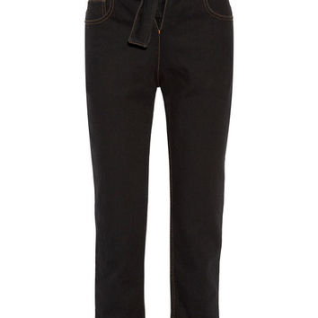 Y/PROJECT - Tie-front high-rise straight-leg jeans