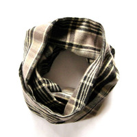 Toddler Scarf Childs Flannel Scarf Plaid Scarf Girl Scarf Boy Scarf Childs Winter Scarf Brown Tan Black Holiday Kid Scarf Cute Holiday Gift