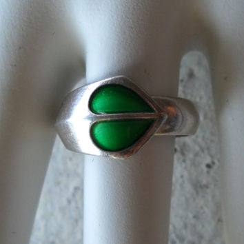 DAVID-ANDERSEN Norway Sterling & Enamel Mid Century Ring