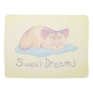 Dreaming Kitten Swaddle Blanket