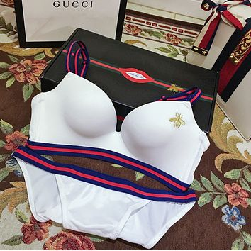 Gucci  Little bee embroidered seamless lady bra