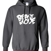 Beast Mode Workout Training wars gym fitness Hoodie Hooded Sweatshirt T Shirt Mens Ladies Womens Modern Spooky Nerd Geek UnDead DT-341h