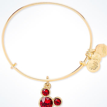 Disney Mickey Mouse Birthstone Bangle by Alex and Ani July Gold Finish New