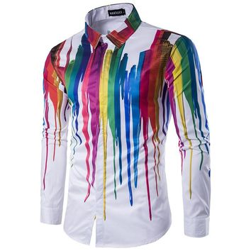 Watercolor Series Aura Button Up Shirt