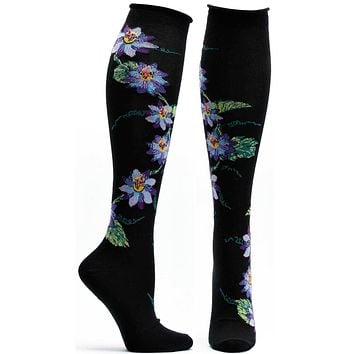 Apothecary Florals Passionvine Knee High Sock