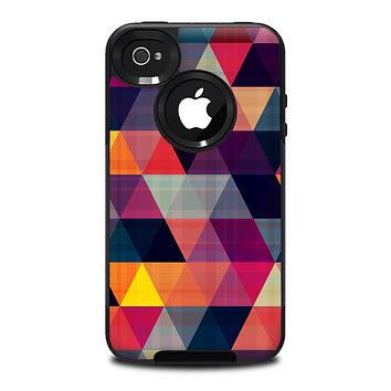 The Triangular Abstract Vibrant Colored Pattern Skin for the iPhone 4-4s OtterBox Commuter Case