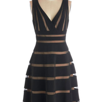 ModCloth Long Sleeveless A-line Correspondents' Dinner Date Dress