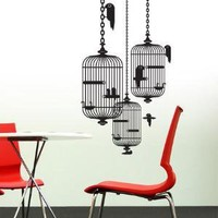 Bird Cages wall sticker Hu2 Design