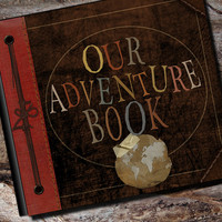 Our Adventure Book Personalized Wedding Photo Album, Scrapbook or Guest Book