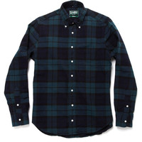 Gitman Vintage Black Watch Plaid Shirt at Park & Bond ($100-200)