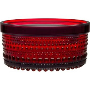 Kastehelmi Jar in cranberry - small