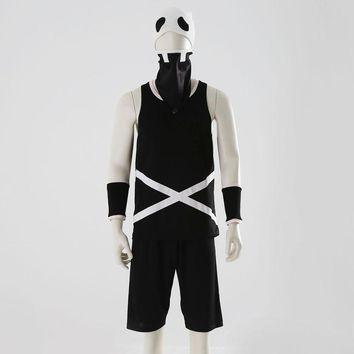 Sun and Moon Team Skull Grunt Cosplay Costome T-shirt Shorts Wrist Mask Cap Hat Clothes 1/Set Halloween Party PropsKawaii Pokemon go  AT_89_9