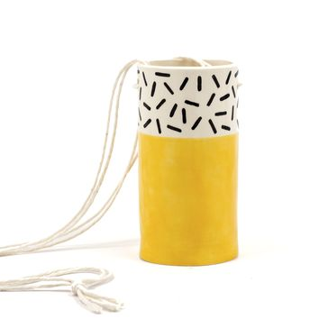 Yellow Hanging Vase