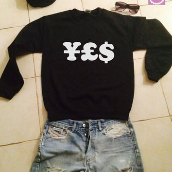 YES sweatshirt jumper gifts cool fashion girls women funny teens teenagers fangirl tumblr style bestfriends girlfriends blogger