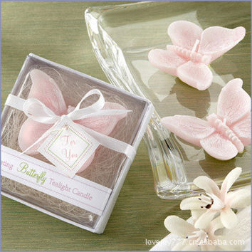 Romantic Pink Butterfly Candles Wedding Suitors Candle Scented Wedding Favor Party Valentine'S Gift With Gift Box