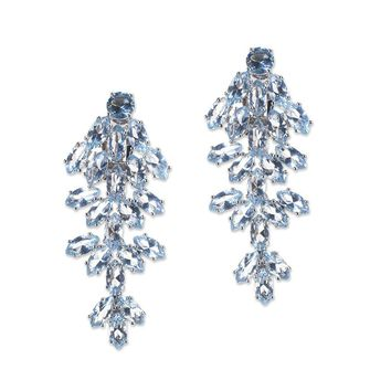 Aquamarine Marquise Waterfall Clip Earring