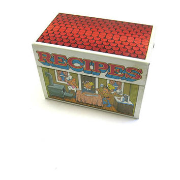 Rice Krispies Metal Recipe Box Snap Crackle Pop Kelloggs Collectible
