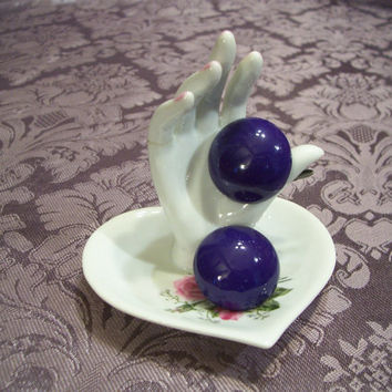 Nice Vintage Chunky Purple Earrings New from AAi