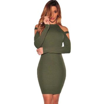Winter Sexy Off Shoulder Club Party Dresses Women Long