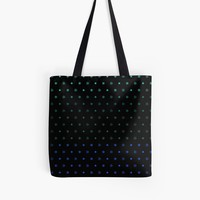'Knot Star Pattern Blue Green on Black' Tote Bag by craftymummy