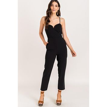Strappy Jumpsuit, Black